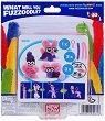 """Направи сам гъвкаво чудовище - Clip'n Carry: Pink - Творчески комплект от серията """"Fuzzoodles"""" -"""