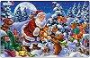 Дядо Коледа в гората - Пъзел в картонена подложка -