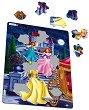 Принцеси - Пъзел в картонена подложка : С части в нестандартна форма -