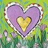 "Пролет - Златна колекция - Колекция ""Hearts of Gold"" - картичка"