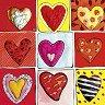 """Всичките девет - Златна колекция - Колекция """"Hearts of Gold"""" - картичка"""
