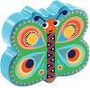Маракас - Пеперуда - Детски дървен музикален инструмент -