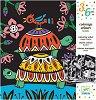 Оцветявай с флумастери - Кадифени животни - Творчески комплект за рисуване -