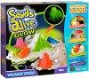 """Магически светещ пясък за моделиране - Светът на вулканите - Творчески комплект от серията """"Sands Alive"""" -"""