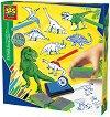 Колекция печати - Динозаври - Творчески комплект -