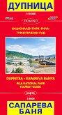 Карта на Дупница и Сапарева Баня. Национален парк Рила, Туристически гид - М 1:10 000 -