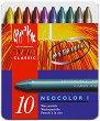 """Восъчни пастели - Neocolor I Metallic - Комплект от 10 цвята от серията """"Classic"""" -"""