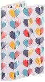 Текстилна подвързия за книга - Сърца -