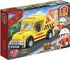 """Транспортна кола - Детски конструктор с pull-back механизъм от серията """"BanBao Fire"""" -"""
