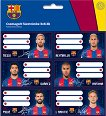 Етикети за тетрадки - ФК Барселона - Комплект от 18 броя - книга