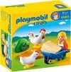 """Домакиня с кокошки и пилета - Мини фигури от серията """"Playmobil: 1.2.3"""" -"""