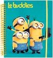 Le Buddies - комплект от книжка за оцветяване със стикери + флумастери и пастели -