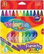 Флумастери - Комплект от 12 цвята -