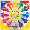 Пастели за пръсти - Finger crayons - Комплект от 12 броя -