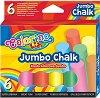 Цветни тебешири - Jumbo - Комплект от 6 или 15 броя -