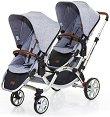 Комбинирана бебешка количка за близнаци - Zoom Style 2017 - С 4 колела -