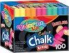 Безпрахови цветни тебешири - Colour - Комплект от 100 броя -