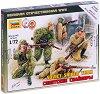 """Съветски снайперисти - Комплект от 4 сглобяеми фигури от серията """"Великата отечествена война"""" -"""