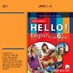 Hello! Аудиодиск № 1 по английски език за 6. клас - New Edition - Емилия Колева, Десислава Петкова -