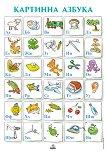 Табло № 2 по български език и литература за 1. клас : Картинна азбука -