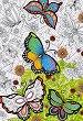 """Пеперуди - Пъзел за оцветяване от серията """"Anti Stress"""" -"""