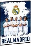 Ученическа тетрадка - Real Madrid : Формат А5 с широки редове - 40 листа - тетрадка