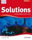 Solutions - Pre-Intermediate: Учебник по английски език Second Edition - учебник