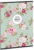 Ученическа тетрадка - Vintage rose : Формат А4 с широки редове - 40 листа -