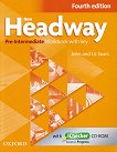 New Headway - Pre-Intermediate (A2 - B1): Учебна тетрадка по английски език + iChecker CD-ROM : Fourth Edition - John Soars, Liz Soars -