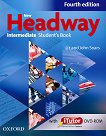 New Headway - Intermediate (B1): Учебник по английски език + iTutor DVD-ROM : Fourth Edition - John Soars, Liz Soars - книга