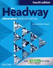 New Headway - Intermediate (B1): Учебна тетрадка по английски език + iChecker CD-ROM : Fourth Edition - John Soars, Liz Soars - помагало