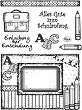 Силиконови печати - Първият учебен ден - Размер 14 х 18 cm -