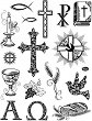 Силиконови печати - Християнски символи - Размер 14 х 18 cm -