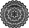 Гумен печат - Дантела - Размери 10 x 10 cm -