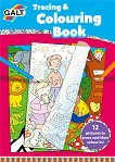 Galt: Книжка за прекопиране и оцветяване Tracing and Colouring Book - детска книга