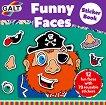 Galt: Забавни лица - книжка със стикери : Funny Faces - sticker book - детска книга