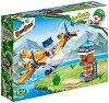 """Самолет и кула - Детски конструктор от серията """"BanBao PowPow Bing"""" -"""