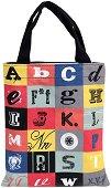 Текстилна чанта за книги - Азбука -