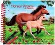 Horses Dreams - книжка за оцветяване с коне + стикери -