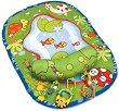 Постелка за активна гимнастика - Езерце - Комплект с възглавница за игра по корем -