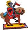 Рицар - Дървен 3D пъзел за оцветяване -