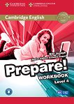 Prepare! - ниво 4 (B1): Учебна тетрадка по английски език + онлайн аудиоматериали : First Edition - Niki Joseph, Annette Capel -