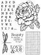Гумен печат - Роза и азбука - Размери 14 х 18 cm -