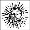 Гумен печат - Слънце - Размери 10 х 10 cm -