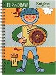 Книжка за оцветяване - Flip & Draw: Knights -