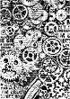 Декупажна хартия - Зъбни колела - Формат А4 -