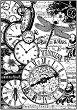 Декупажна хартия - Джобни часовници - Формат А4 -