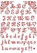Шаблон - Английска азбука - Размери 21 х 29.7 cm -