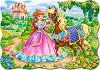 Принцеса с кон - Пъзел в нестандартна форма -
