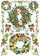 """Декупажна хартия - Коледни венци 278 - Серия """"Digital Collection Mulberry"""" -"""